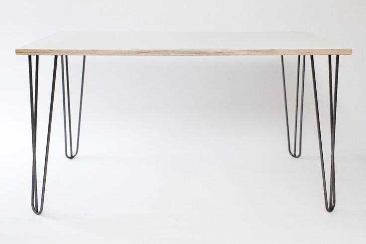 Best 25 hairpin table ideas on pinterest hairpin legs for Plywood table hairpin legs