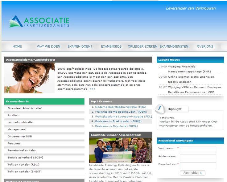 Associatie voor Praktijkexamens - projectbegeleiding en webteksten