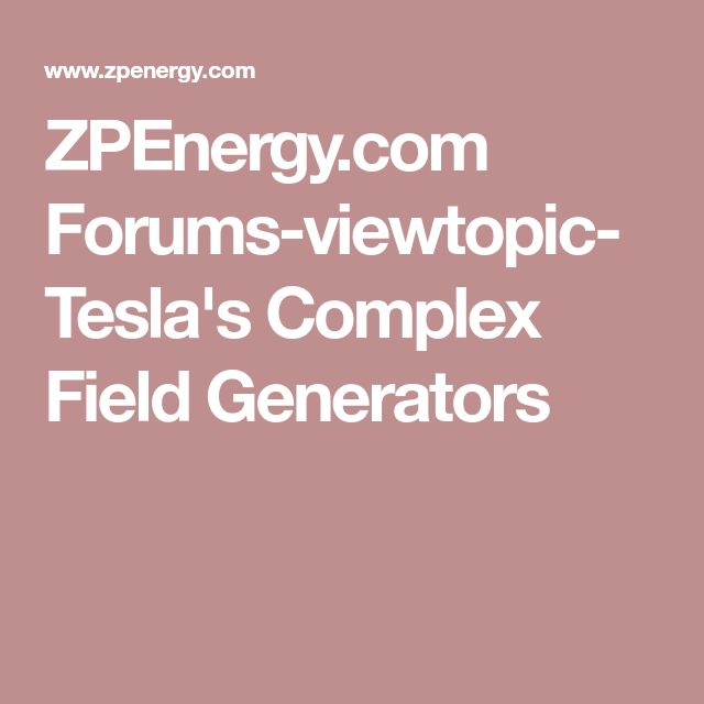 how to build a tesla generator free
