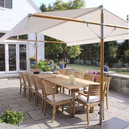 Outdoor shade canopy - Wow this is perfect. Too bad it's only $4,000-$5,000, yikes. Do I smell a DIY project??