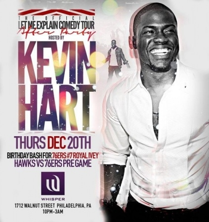 The Official Let Me Explain Comedy Tour After Party hosted by Kevin Hart at Whisper Nightclub - Thursday, December 20th - Click for more information