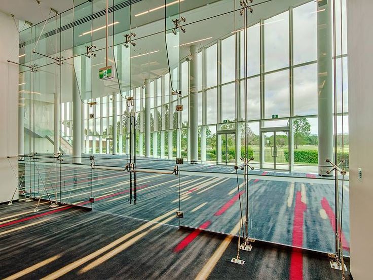 Major redevelopment of the 1500m2 Royal Benowa Ballroom at RACV Royal Pines resort. Glass Fin + Vertical Cable Truss  contact: matsee@strudyna