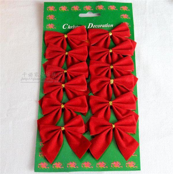 Cheap commercio all'ingrosso bello 12 pz/pacco piuttosto rosso archi per festival decorazione albero di natale ornamento di natale, Compro Qualità Decorazioni e forniture di natale direttamente da fornitori della Cina: