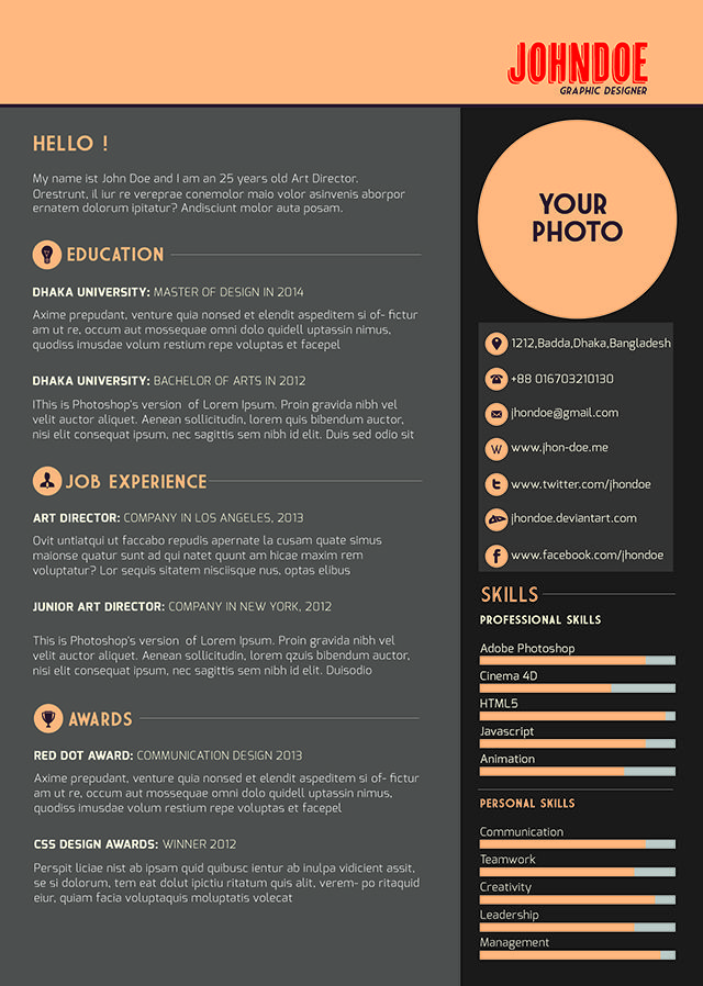 Best Resume Templates  Plantillas Images On   Free