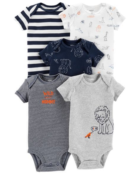 8f292b8b4 5-Pack Lion Original Bodysuits from Carters.com. Shop clothing & accessories  from a trusted name in kids, toddlers, and baby clothes.