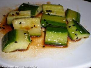 PF Chang's Cucumber Recipe.   This website has lots of gluten free recipes.