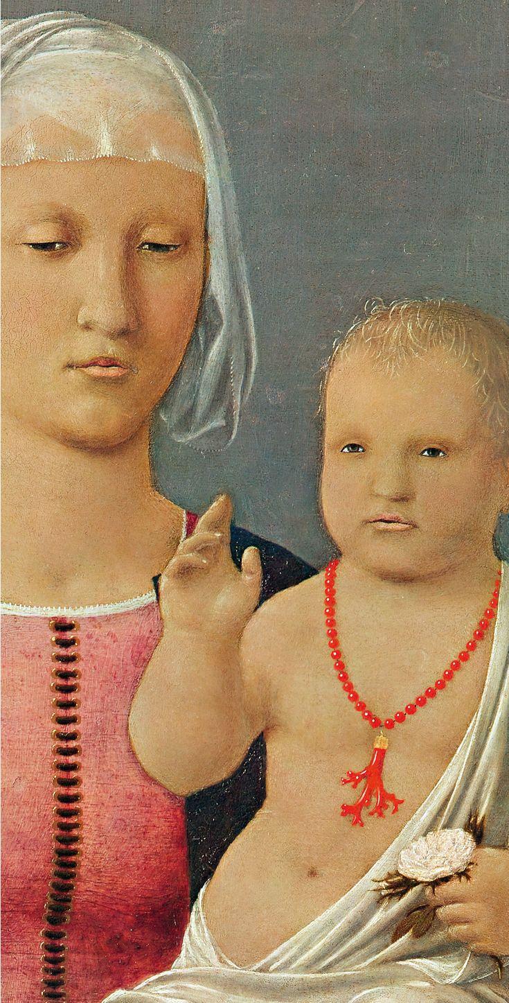 ❤ - PIERO DELLA FRANCESCA - (1415 - 1492) - Madonna di Senigallia (detail).