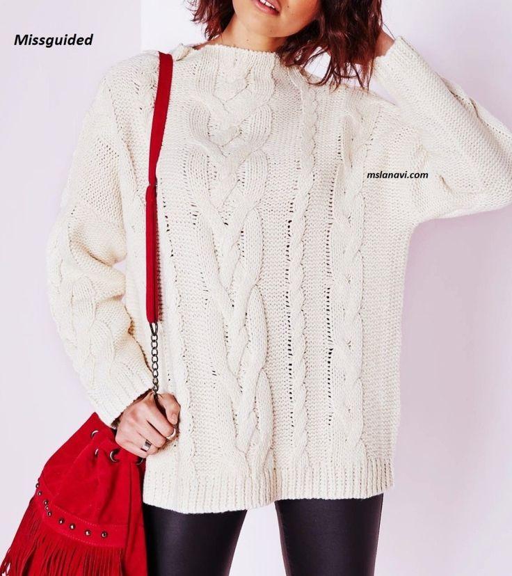 Широкий вязаный свитер от Missguided - СХЕМА http://mslanavi.com/2016/08/shirokij-vyazanyj-sviter-ot-missguided/