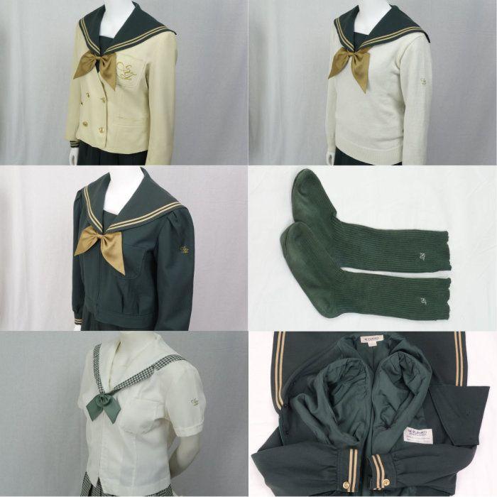 須賀川桐陽高校 緑 セーラー服 ジャケット スクール水着 制服 160429b_detail6