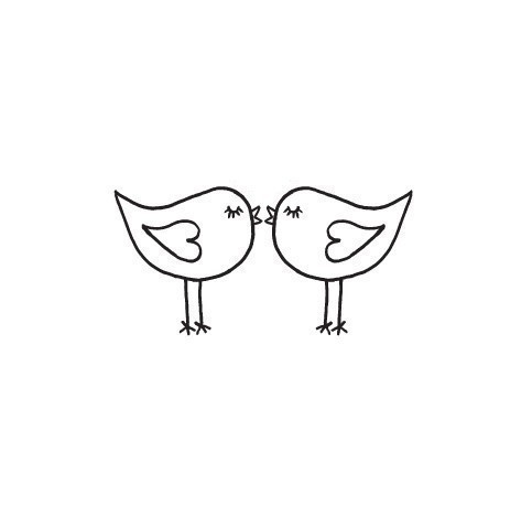 Cute Love Birds Kissing Mounted Rubber Stamp by terbearco on Etsy