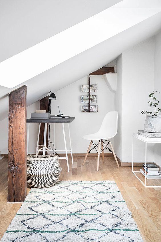 un espacio inspirador para trabajar los espacios de trabajo dentro de casa