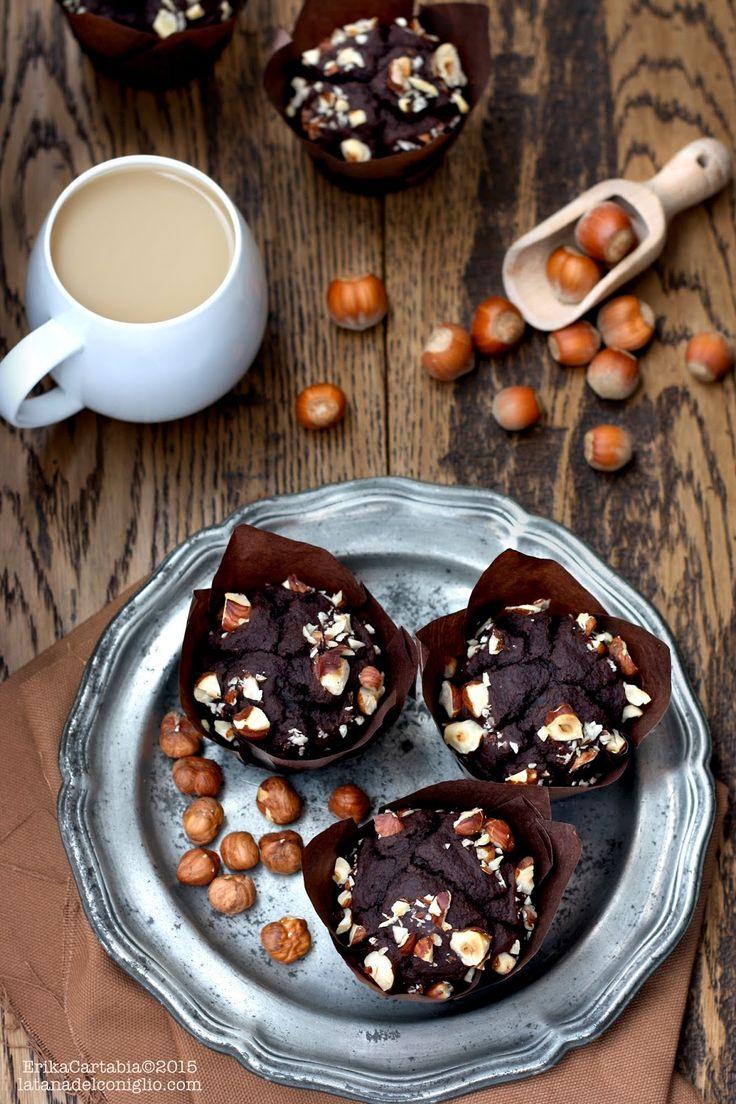 La tana del coniglio: Muffins vegani al farro, cacao e latte di nocciola