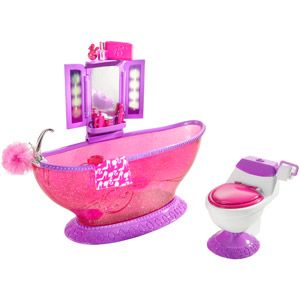 Barbie Basic Furniture Bath to Beauty Bathroom Play Set