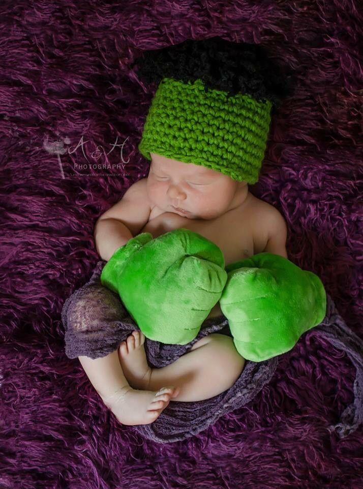 Incredible Hulk  Hulk smash  Hulk  Newborn boy Photography