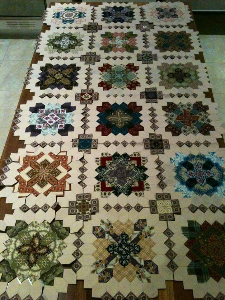 Look at this fabulous way to lay out the sides of the quilt!