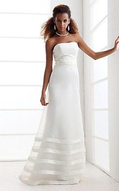 TAYLER - Vestido de Noiva em Organza e Cetim – BRL R$ 358,52
