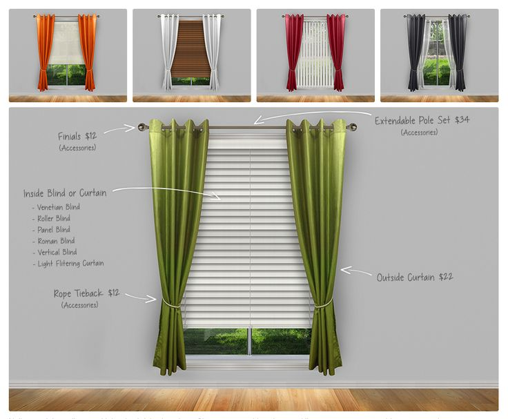 Design Ideas That Save You Money - And Look Great! #blinds #home #decor #curtains