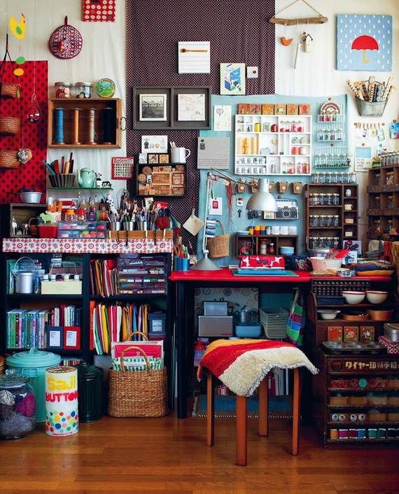 50 Amazing and Practical Craft Room Design Ideas and Inspirations -