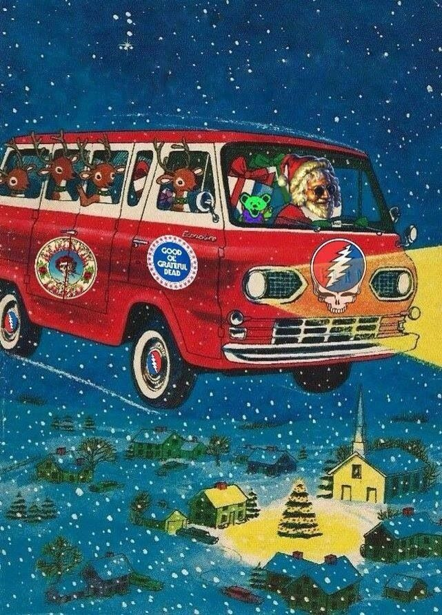 "☮ American Hippie Holiday ~ Christmas Santa . . Grateful Dead .. ""Jerry Claus"""