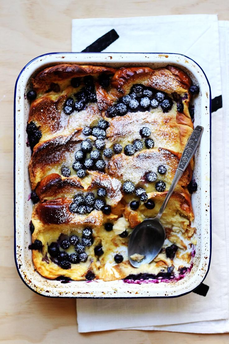 Baked Blueberry French Toast from The Sugar Hit. A perfect looking, delicious dessert!