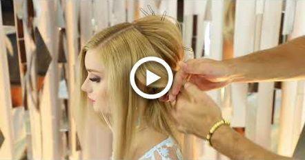 Romantic hairstyle, long tutorial! Farrukh Shamuratov #hair #promhairupdotutorial