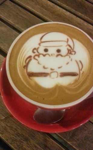 Santa Latte Art→follow← my board ♡ͦ* ¢σffєє σвѕєѕѕє∂ ♡ͦ* @ ★☆Danielle ✶ Beasy☆★