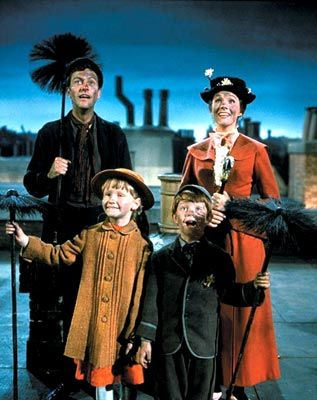 Mary Poppins - 1964.  This is the first musical I remember seeing on the big screen.