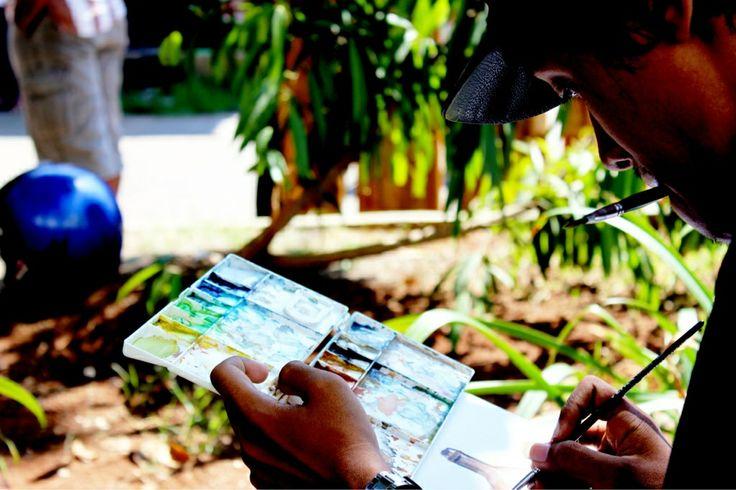 art jamming by orart-oret, an art community in Semarang, Indonesia