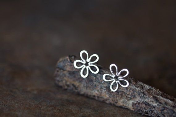Sterling Silver 10mm dainty oxidized Dragonfly post stud earrings