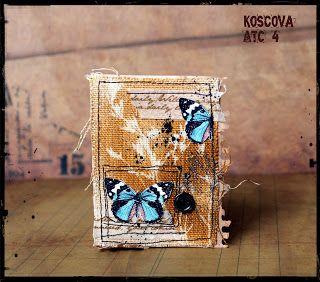 ACEO / ATC art cards. koscovascrap: АТС ... тканевые... осенние