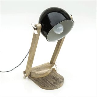 Adjustable table lamp, this lamp comes in two colours, black or white.