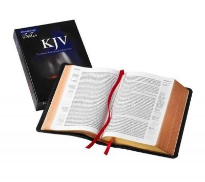 Holy Bible: King James Version,, Goatskin, Single Column Reference Bible