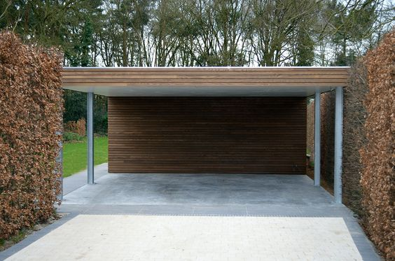 Moderne carports in hout - Livinlodge PURE: