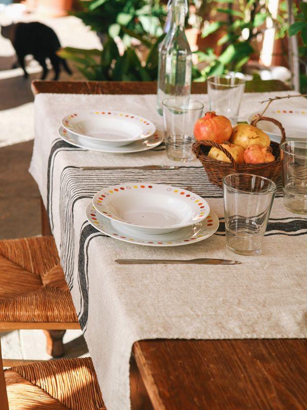 Tovaglia 100% Lino Nero Rettangolare | Coquelicot Design