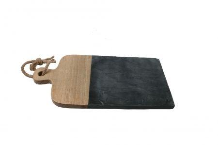 Brett aus schwarzem Schiffer und Holz von COZY Room