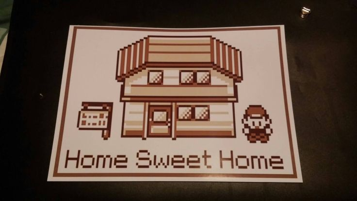 """Pokemon poster """"Home sweet home"""" A4 by ProjectDragon on Etsy https://www.etsy.com/listing/226596020/pokemon-poster-home-sweet-home-a4"""