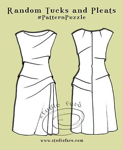 "Pattern Puzzle - Random Tucks and Pleats. A nice ""simple"" dress"