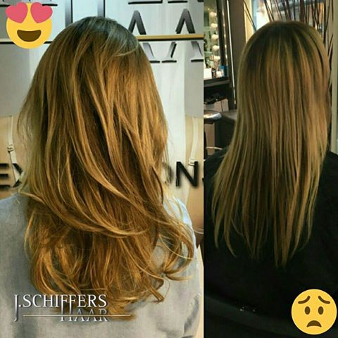 Ombre Balayage mit Extensions 40cm Tapes