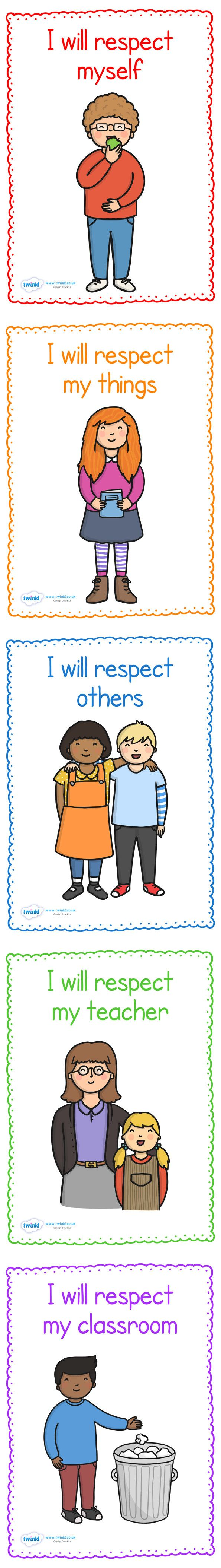 Respect in The Classroom Display Posters   printables for Kindergarten
