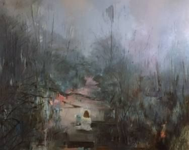 "Saatchi Art Artist Magdalena Lamri; Painting, ""The River"" #art"