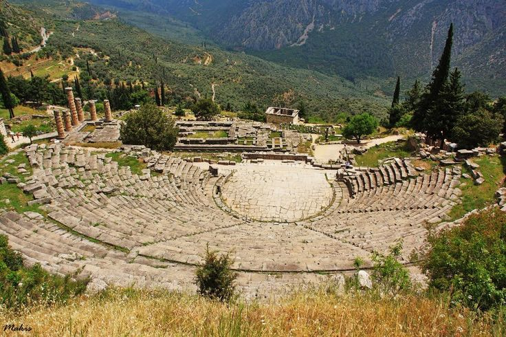 Large enough for 5,000 spectators, the ancient theater at Delphi is a truly impressive site, with lovely views of the temple of Apollo and the olive tree valley below. It was first built sometime in the 4th century BC, but has undergone many reconstructions over time.