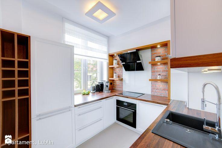 Metamorfozzzza apartament ul.Kowalska Lublin - Średnia zamknięta kuchnia w kształcie litery u w aneksie, styl minimalistyczny - zdjęcie od Auraprojekt