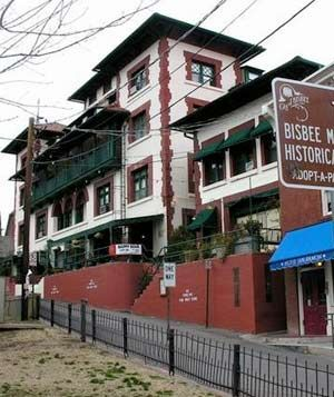 """Copper Queen Hotel Bisbee, Arizona   Opened in 1902, the Copper Queen Hotel was one of the most modern, luxurious, and popular spots during the mining boom. Today it is still a charming getaway in southern Arizona–with three """"permanent"""" residents."""