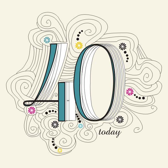 Imprimibles para fiesta de 40 años 6. | Ideas y material gratis para fiestas y celebraciones Oh My Fiesta!