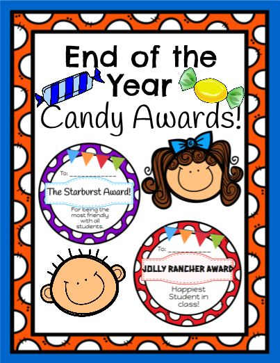 Great editable classroom materials @teachersherpa Use this Super Colorful Candy Awards to give your students at the end of the school year or just for fun! You can tape the candy to the award to make for a sweet award for your student! (All awards are editable here on TeacherSherpa!)