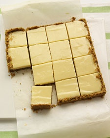 Key Lime Bars from Martha Stewart.com This creamy dessert is a cross