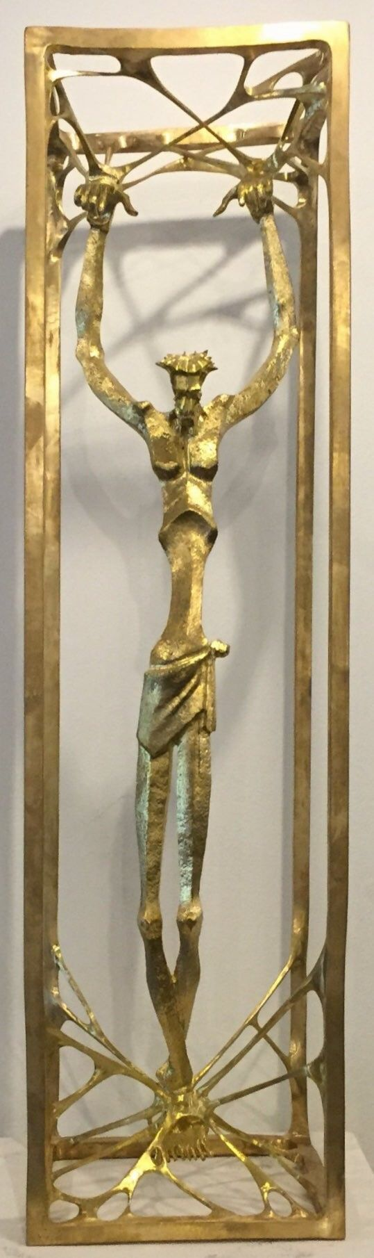 THE CONCEALER By Nathan Doss  In Sculpture, Bronze Size: 100(H) X 40(W)  Price 6000 CHF  See it here: http://www.c-glory.ch/artwork.html #CGlory #TheConcealer #Artwork