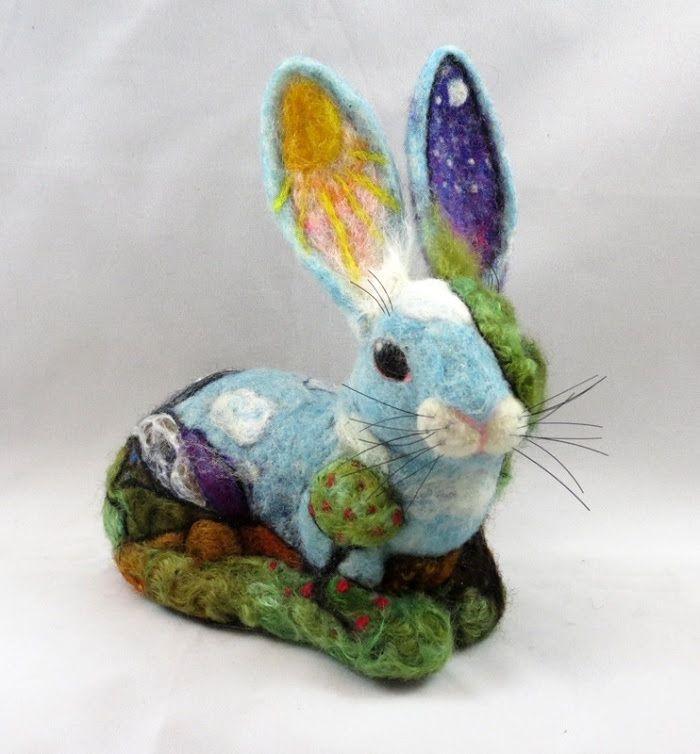 Artful and adventurous needle felted bunny beautiful - Needle felting design ideas ...