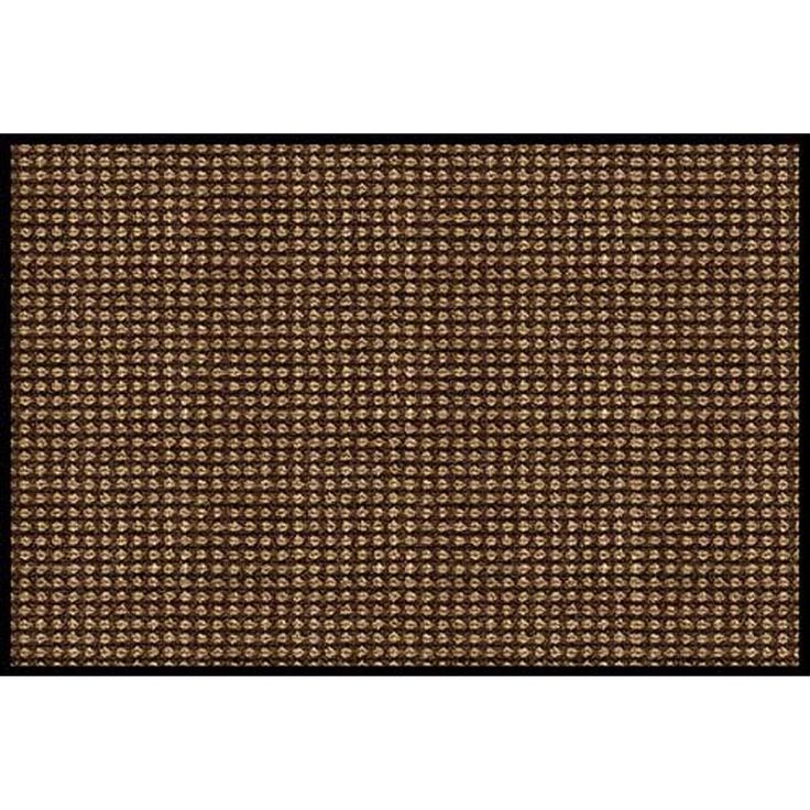 "Prestige Brown Door Mat (18"" x 27""), Black (Synthetic Fiber)"
