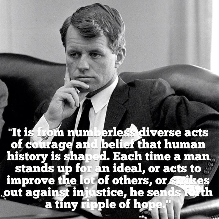 Kennedy, Robert F. (1925-1968); U.S. Senator & Attorney General, Democratic presidential candidate